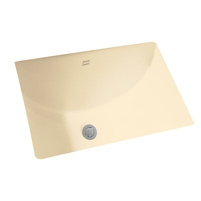 Studio Rectangular Undermount Bathroom Sink with Overflow Sink Finish: Bone