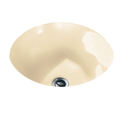 Orbit Circular Undermount Bathroom Sink with Overflow Sink Finish: Bone