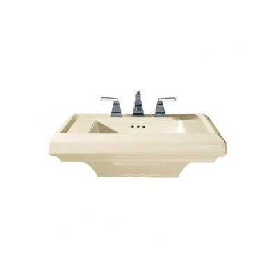 Town Square Ceramic 27 Pedestal Bathroom Sink with Overflow Sink Finish: Bone, Faucet Mount: 8 Centers