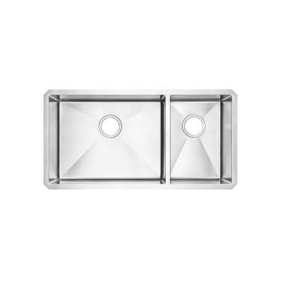 35 x 21.75 Undermount Double Combination Bowl Kitchen Sink
