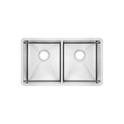 35.25 x 21.25 Undermount Double Bowl Kitchen Sink