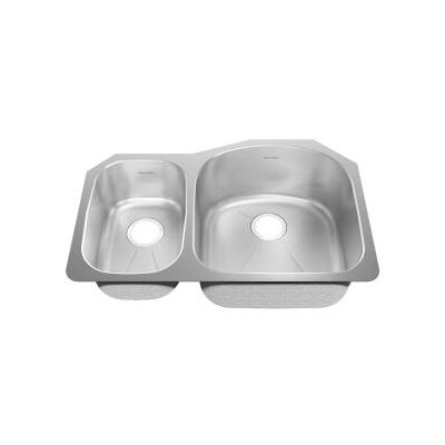 Prevoir Undermount Double Combination with Creased Bottom and Left Small Bowl Kitchen Sink