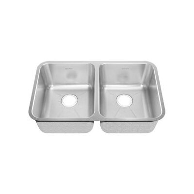 18.75 x 9 Undermount Double Bowl with Creased Bottom Kitchen Sink