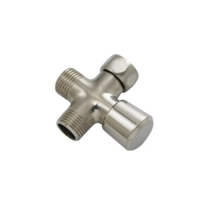 0.5 NPT Shower Arm Diverter Valve Finish: Satin Nickel