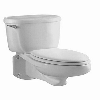 Glenwall Pressure Assisted 1.6 GPF Elongated Two-Piece Toilet Finish: White