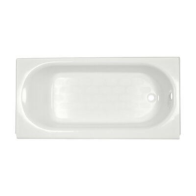 Princeton 60 x 30 Soaking Bathtub Finish: White, Drain Location: Right-Hand