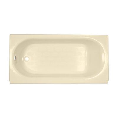 Princeton 60 x 30 Above Floor Americast Recessed Soaking Bathtub Finish: Bone, Drain Location: Left