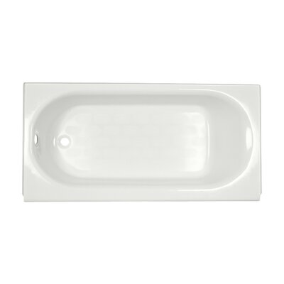 Princeton 60 x 30 Above Floor Recess Soaking Bathtub with Overflow Finish: White, Drain Location: Left