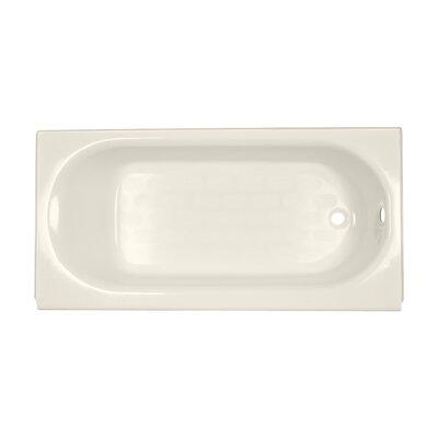 Princeton 60 x 30 Above Floor Americast Recessed Soaking Bathtub Finish: Linen, Drain Location: Right