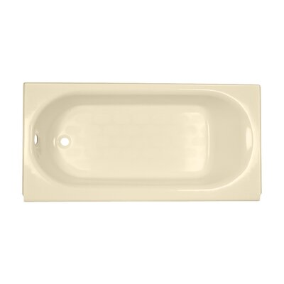 Princeton 60 x 34 Luxury Ledge Americast Recessed Soaking Bathtub Finish: Bone, Drain Location: Left
