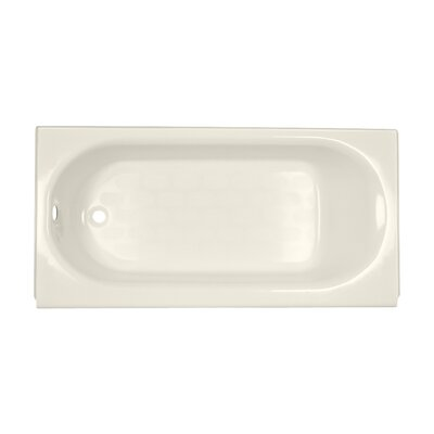 Princeton 60 x 34 Luxury Ledge Americast Recessed Soaking Bathtub Finish: Linen, Drain Location: Left