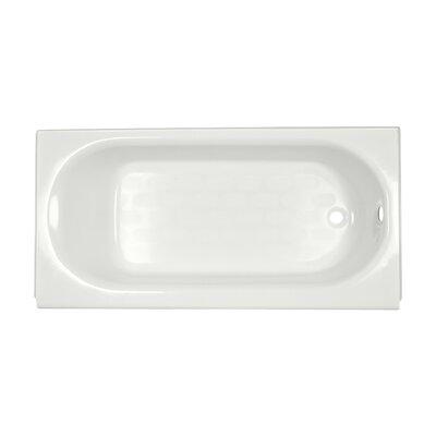 Princeton 60 x 34 Luxury Ledge Americast Recessed Soaking Bathtub Finish: White, Drain Location: Right