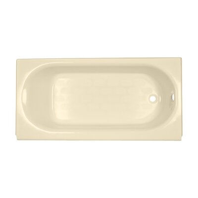Princeton 60 x 34 Luxury Ledge Americast Recessed Soaking Bathtub Finish: Bone, Drain Location: Right