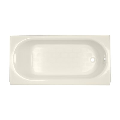 Princeton 60 x 34 Luxury Ledge Americast Recessed Soaking Bathtub Finish: Linen, Drain Location: Right