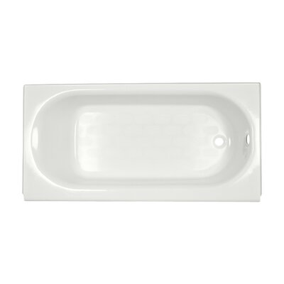 Princeton 60 x 34 Above-Floor Soaking Bathtub with Luxury Ledge and Integral Overflow Color: White, Drain Location: Right