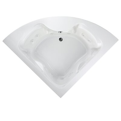 Cadet 85 x 60 Corner Air Tub with StayClean Hydro Massage System l Finish: White