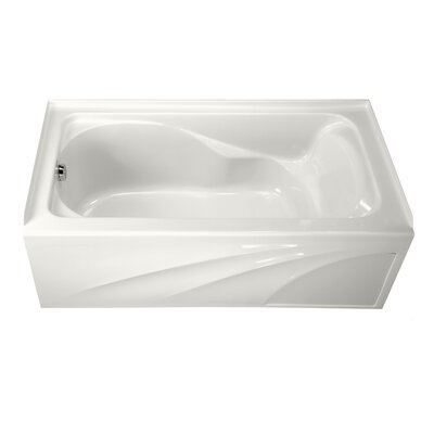Cadet 60 x 32 Soaking Bathtub with Integral Apron Finish: White, Drain Location: Left