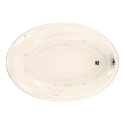 Savona 60 x 42 Air/Whirlpool Bathtub with StayClean Hydro Massage System l Finish: Linen