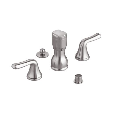 Colony Double Lever Handle Vertical Spray Bidet Faucet Optional Accessory: With Vacuum Breaker, Finish: Polished Chrome