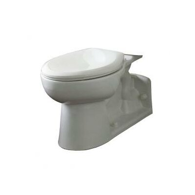 High Dual Flush Elongated Toilet Bowl Finish: White
