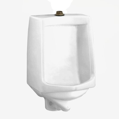 Trimbrook Urinal with 0.75 Top Spud, Wall Hanger, and Outlet Connection Finish: White