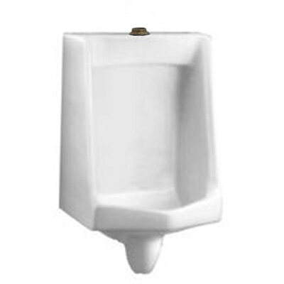 "Lucia Lynbrook Urinal with 1.25"" Top Spud, Wall Hangers, and Outlet Connection Color: White"