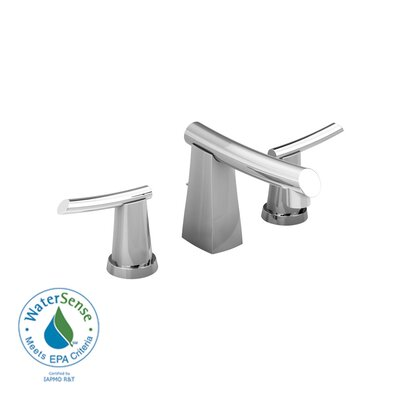 Green Tea Widespread Bathroom Sink Faucet with Double Lever Handles Finish: Polished Chrome