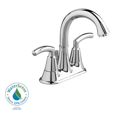 Tropic Centerset Bathroom Sink Faucet with Double Lever Handles Finish: Polished Chrome