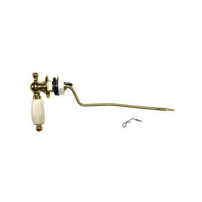 Antiquity Trip Lever for Toilet Lever Finish: Polished Chrome, Grip Finish: Linen