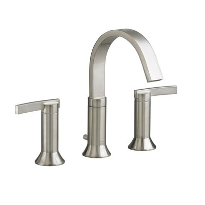 2 Handle High Arc Widespread Bathroom Faucet with Speed Connect Drain Finish: Satin