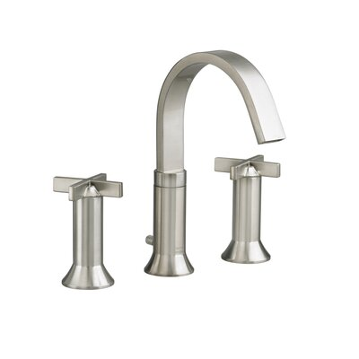 Berwick Widespread Bathroom Faucet with Double Cross Handles Finish: Satin Nickel
