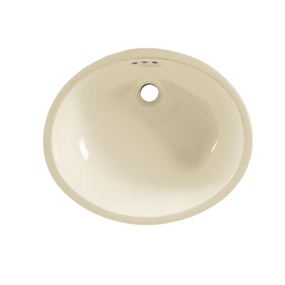 Ovalyn Universal Access Oval Undermount Bathroom Sink with Overflow Sink Finish: Linen