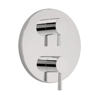 Serin Dual Shower Faucet Trim Kit with Two Handles Finish: Satin Nickel