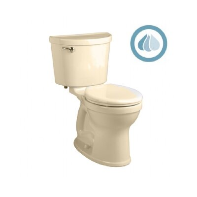 Champion Pro Right Height Rough-In 1.28 GPF Round Two-Piece Toilet Shape: Round, Finish: Black