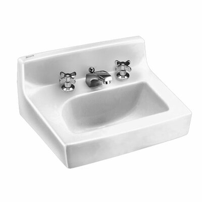 Penlyn 18 Wall Mounted Bathroom Sink with Overflow