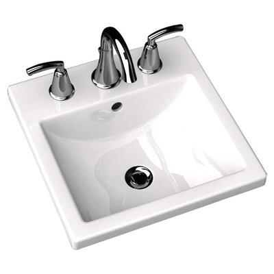 Studio Carre Countertop Bathroom Sink with Center Hole Faucet Mount: Single Hole