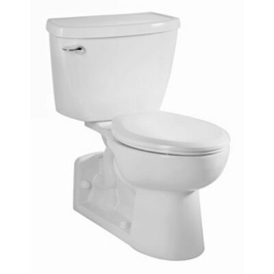 Yorkville Flowise Right Height Pressure Assisted 1.1 GPF Elongated Two-Piece Toilet Finish: White