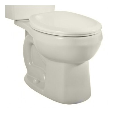 Dual Flush Round Toilet Bowl Finish: Bone