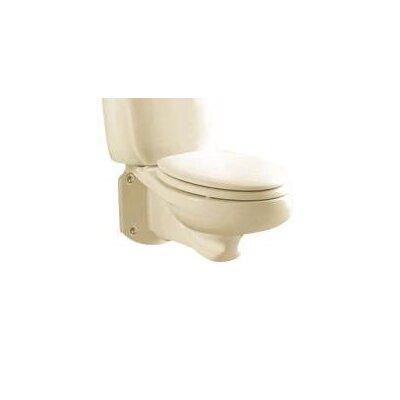 Glenwall Pressure Assisted Wall Mounted 1.6 GPF Elongated Toilet Bowl Finish: Bone