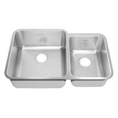 Prevoir 38 x 25.25 Double Basin Undermount Kitchen Sink