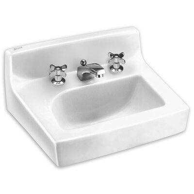 Penlyn Ceramic 18 Wall Mount Bathroom Sink with Overflow