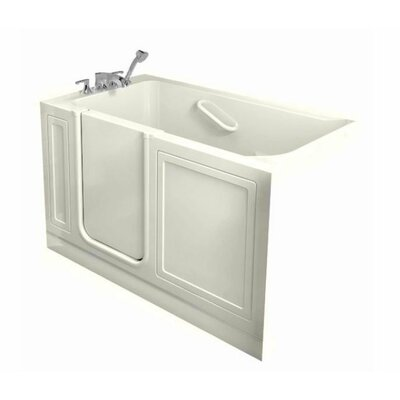 Acrylic 51 x 30 Walk-In Combo Massage Air/Whirlpool Bathtub Drain Location: Left, Finish: Linen