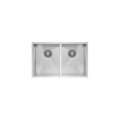 Quatrus 32 x 18 Equal Double Bowl Sink
