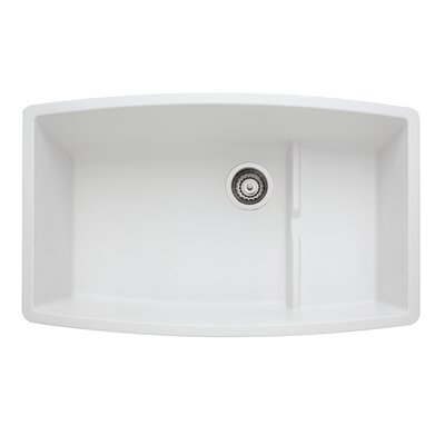 Performa 32 x 19.5 Cascade Kitchen Sink Finish: White