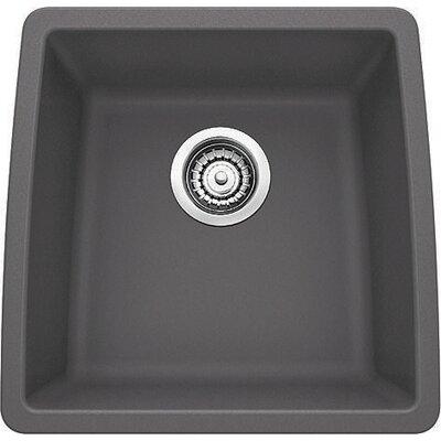 Performa 17.5 x 17 Silgranit II Single Bowl Undermount Bar Sink Finish: Cinder