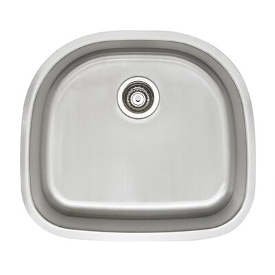 Stellar 23.38 x 20.87 D Shaped Single Bowl Kitchen Sink