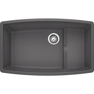 Performa 32 x 19.5 Cascade Kitchen Sink Finish: Cinder
