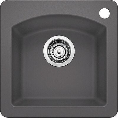 Diamond 15 x 15 Drop-In Kitchen Sink Finish: Cinder