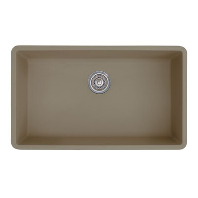 Precis 32 x 19 Super Single Bowl Kitchen Sink Finish: Truffle