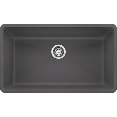Precis 32 x 19 Super Single Bowl Kitchen Sink Finish: Cinder